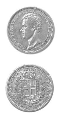 Carlo Alberto, 10 Lire, 1833,