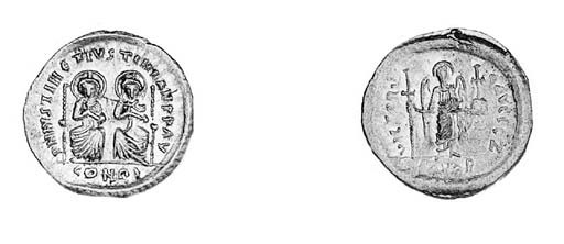 Solidus, two emperors facing,