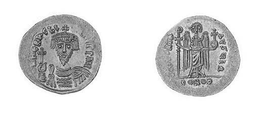 Solidus, Jerusalem?, 610, crow
