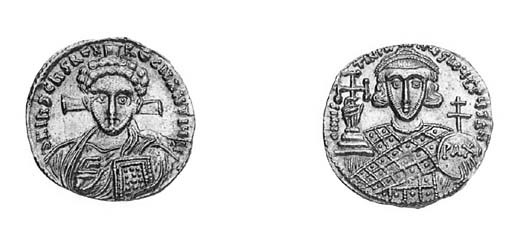 Solidus, facing bust of Christ
