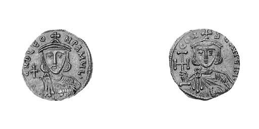 Tremissis, as previous coin bu