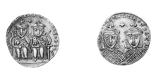 Solidus, Leo IV and Constantin