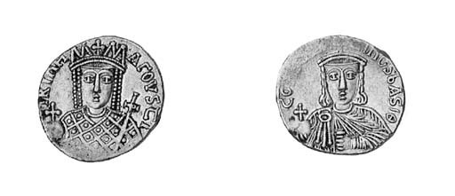 Solidus, facing bust of Irene