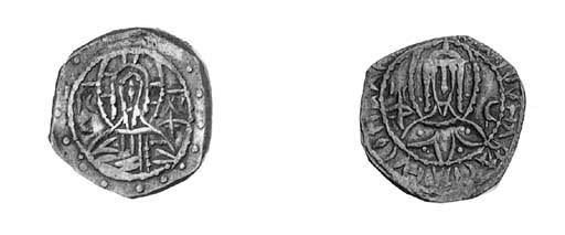Silver Half-stavraton, nimbate