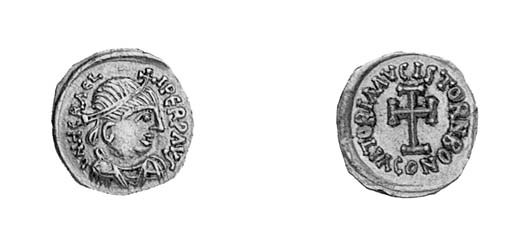 Tremissis, a similar coin in s