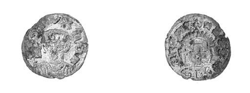 Silver, 0.86g., draped half-le