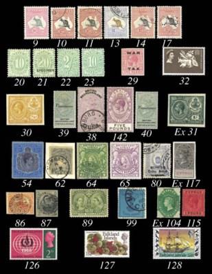 unused  1923 MCA £1 purple and