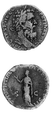 Sestertius, a similar obverse,