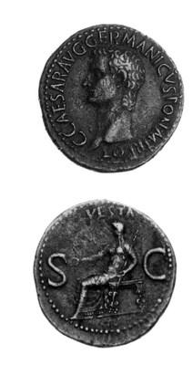 Caligula  (37-41), As, C CAESA