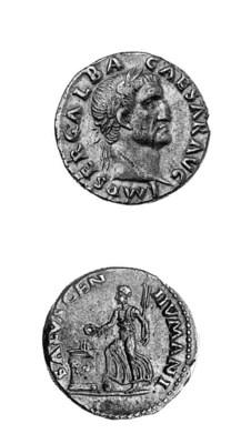 Galba (68-69), Denarius, IMP G