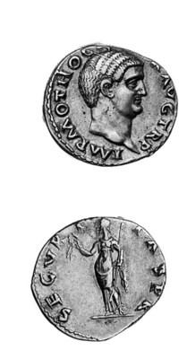 Otho (69), Denarius, IMP M OTH