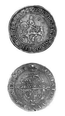 Charles I, group 2b2, Crown, T