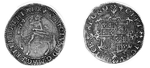 Charles I, type 1a2, Halfcrown