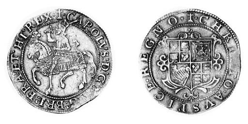 Charles I, type 1a3, Halfcrown