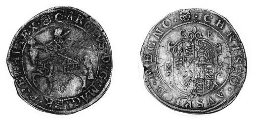Charles I, type 2a, Halfcrown,