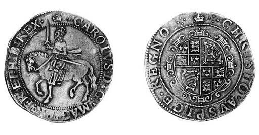 Charles I, type 3a1, Halfcrown