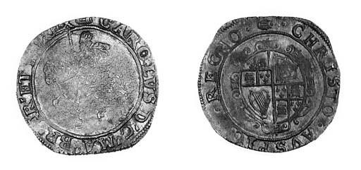 Charles I, type 3a2, Halfcrown