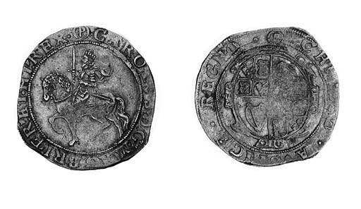 Charles I, type 3a3, Halfcrown