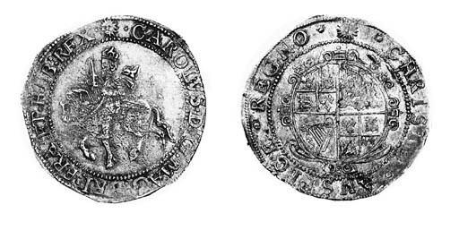 Charles I, type 3a3, Halfcrown