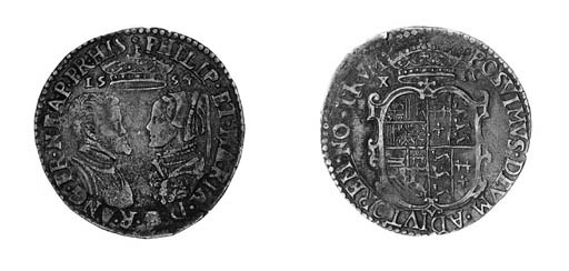 Philip and Mary, Shilling, 155