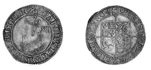 Charles I, Tower, Shilling, gr