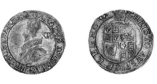 Charles I,  Tower, Shilling, g
