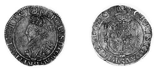 Charles I,Tower, Shilling, gro