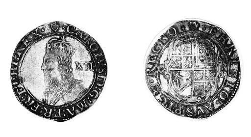 Charles I, Shilling, group D,