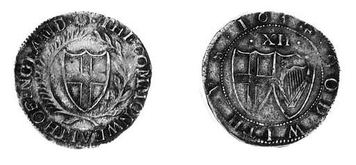 Commonwealth, Shilling, 1654,