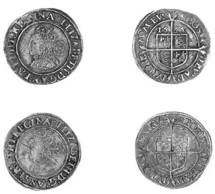 Elizabeth I, Sixpences (2), th