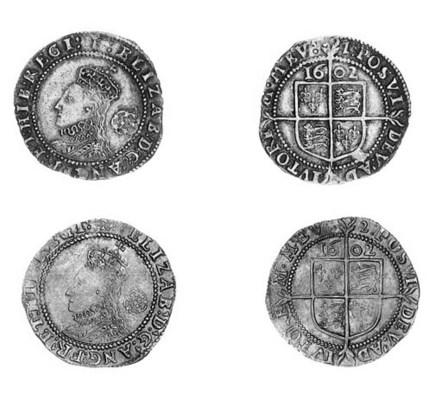 Elizabeth I, Sixpences (2), si