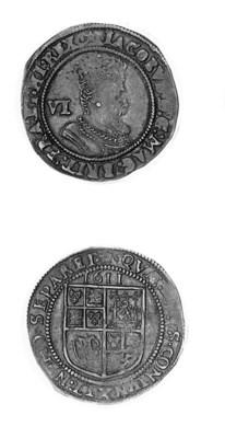 James I, Sixpence, 1611, m.m.