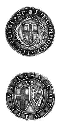 Commonwealth, (1649-60), Sixpe