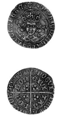 Henry VII, Groat, class II, m.