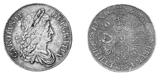Charles II, Crown, 1663, first