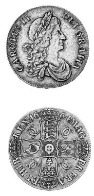 Charles II, Crown, 1664, secon