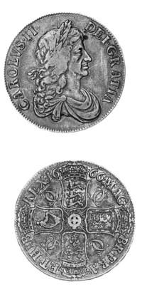 Charles II, Crown, 1666, simil