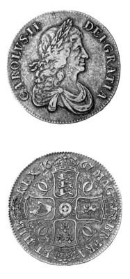 Charles II, Crown, 1667, simil