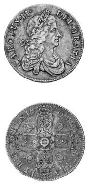 Charles II, Crown, 1670, simil