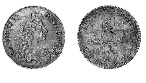 Charles II, Crown, 1672, third