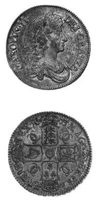 Charles II, Crown, 1673, simil