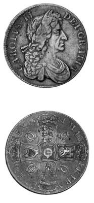 Charles II, Crown, 1681, simil