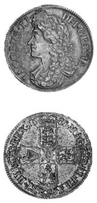 James II, Crown, 1688, 8 over