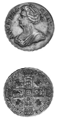 Anne, Crown, 1705, similar to