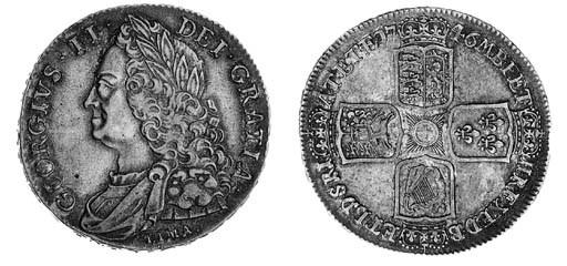 George II, Crown, 1746 LIMA, s