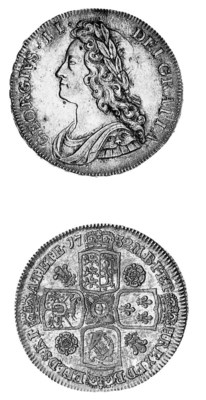 George II, Halfcrown, 1732, si