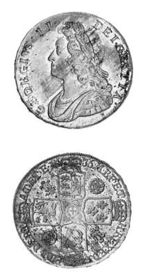 George II, Halfcrown, 1736, si