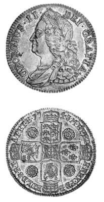 George II, Halfcrown, 1743, ol