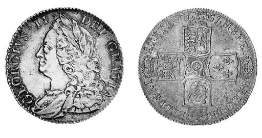 George II, Halfcrown, 1751, si