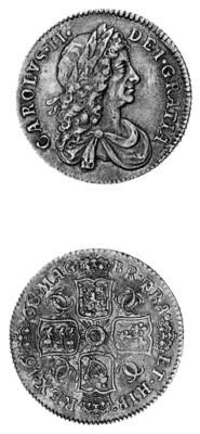 Charles II, Shilling, 1668, se